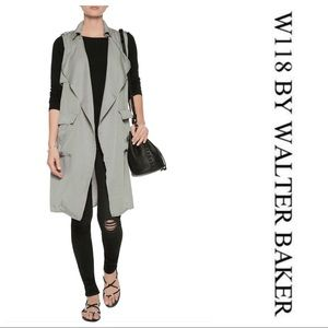 W118 by Walter Baker Draped Voile Vest